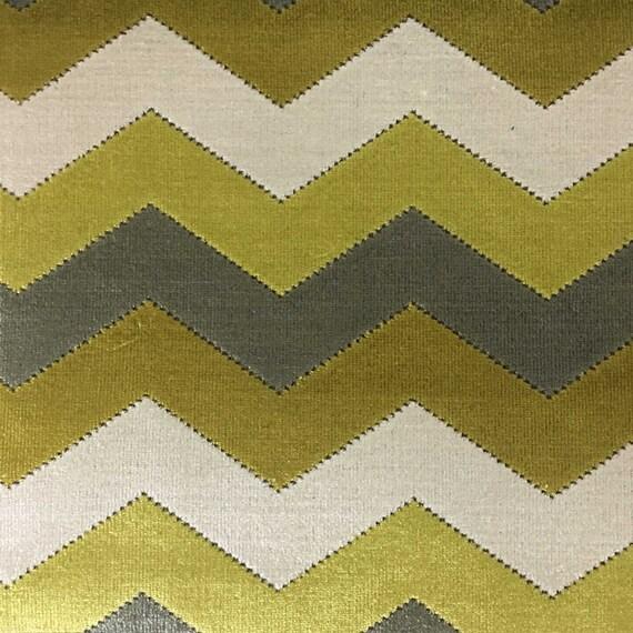 Upholstery Fabric Longwood Curry Bold Chevron Pattern Etsy