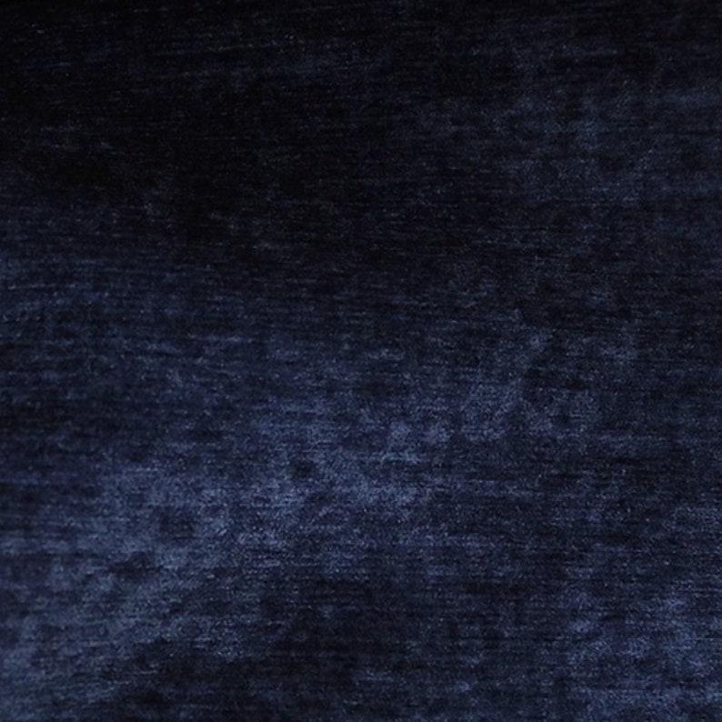 Chenille Velvet Upholstery Fabric By The Yard Lush Life Navy