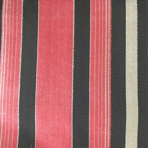 Upholstery Fabric Richmond Coral Cut Velvet Home Decor | Etsy