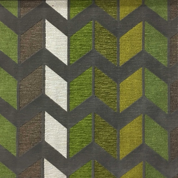 Upholstery Fabric Ziba Wheatgrass Modern Texture Chevron Etsy