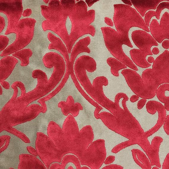 Upholstery Fabric Radcliffe Lipstick Lurex Burnout Velvet Etsy