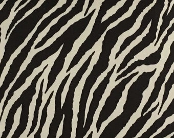 Upholstery Fabric- Safari-Baby Zebra- Brown - Short Pile Velvet Fabric Drapery, Upholstery & Pillow Fabric by the Yard-Available in 2 Colors