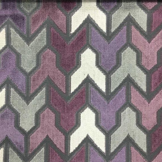 Upholstery Fabric Rocket Fig Geometric Pattern Cut Etsy