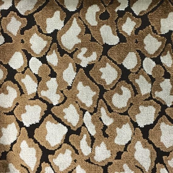 Velvet Upholstery Fabric Hendrix Bittersweet Leopard Etsy