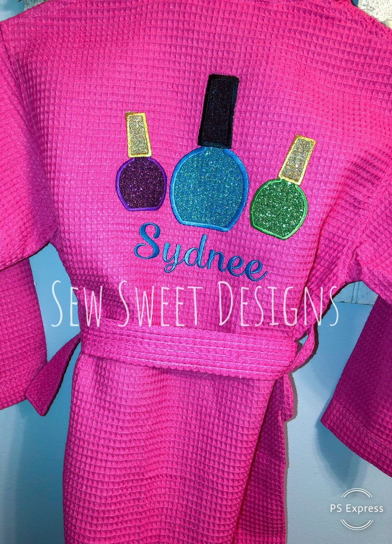 Spa Birthday Party Gift Personalized Spa Robe Spa Party Robes