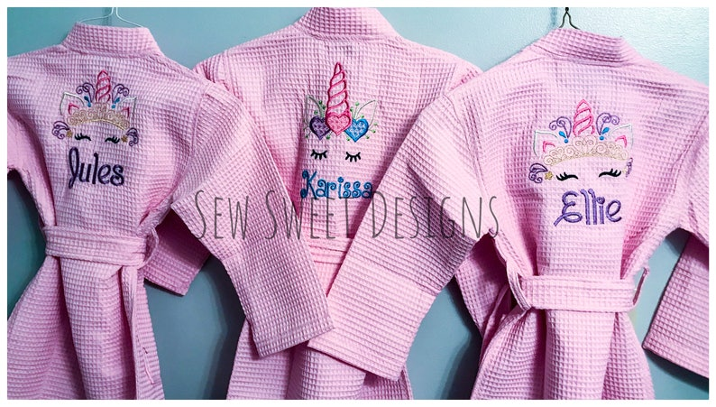 432e668e1 Girls Valentines Day Gift Unicorn bathrobe for Girls | Etsy