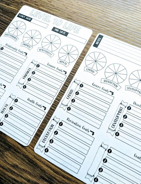 Sticker Bundle Level 10 Life Two Pages Bullet Journal Digital Design Matte Sticker