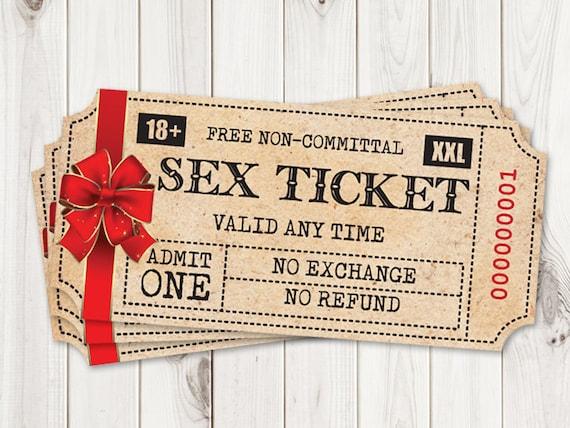Christmas Gift For Him Printable Sex Tickets Kinky Coupon Etsy
