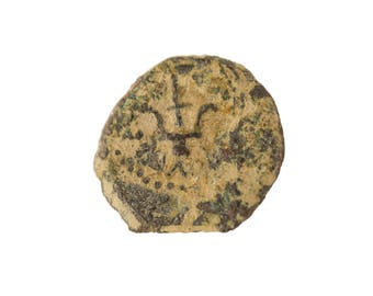 Widow's Mite Genuine Prutah Coin Mark 12:41-42 Alexander Jannaeus King Period 103-76 BC AE Prutah Biblical Coin with Olive Wood Box Holder