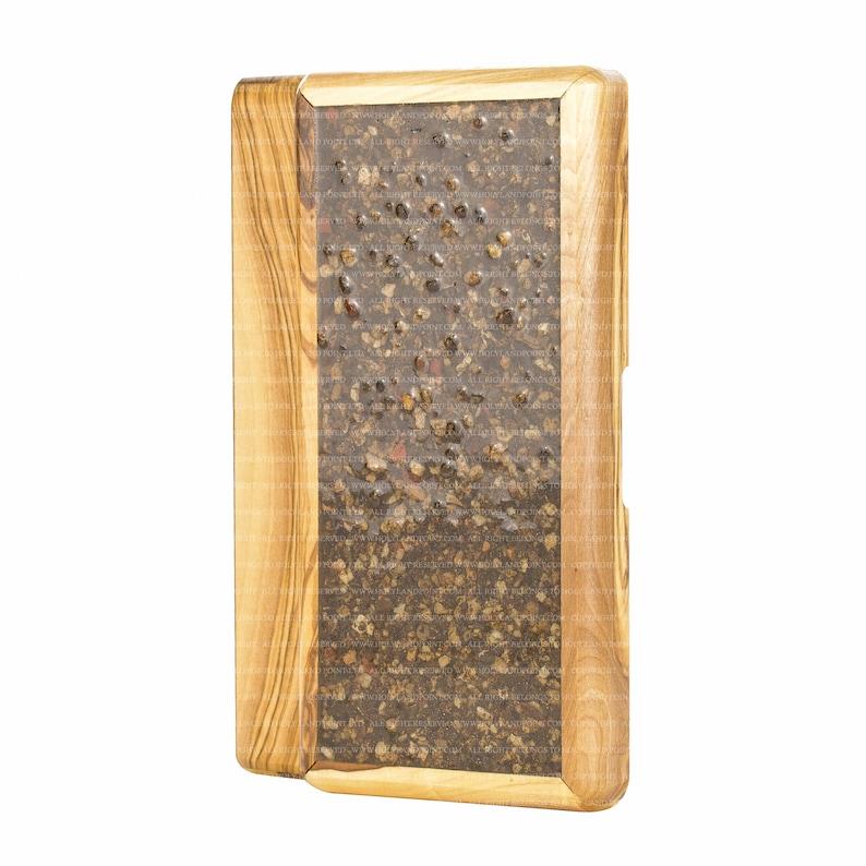 Olive Wood Box with Natural Jerusalem Stones City of David Period of King David 1000 BCE