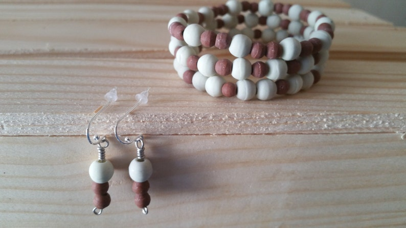 Berry White Bracelets and Earrings