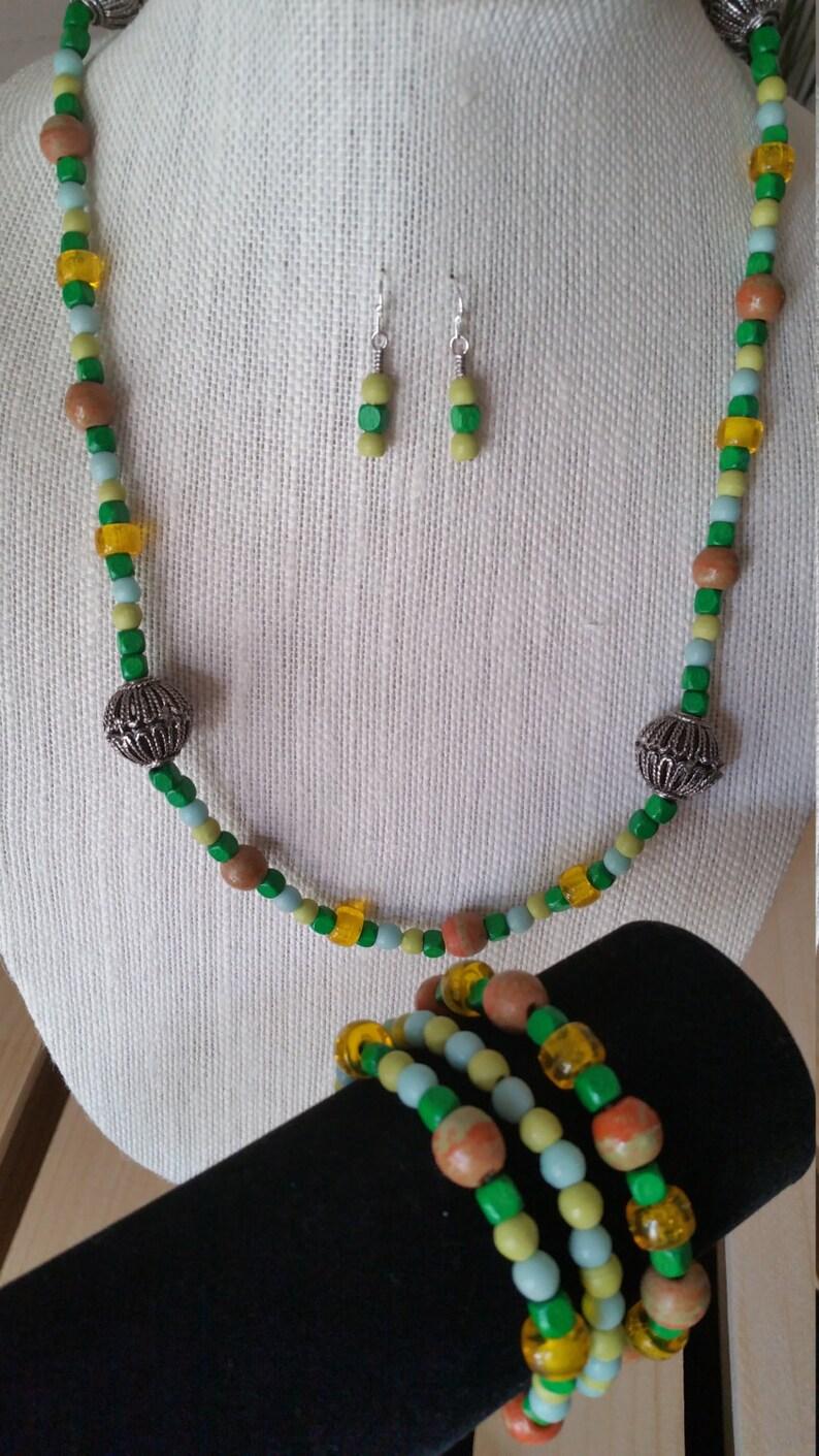 5-Piece Set Filigree and Green