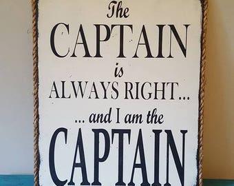 Captain, Gifts for Him, Sailing, Boats, Sailing Gift, Cool Gifts, Wood Signs, Custom Signs, Beach Signs, Boat Decor, Sailing Decor, Nautical