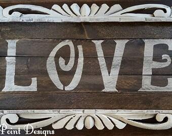 Vintage Love Sign, Valentine's Day Gift, Love Gift, Love Decor, Valentine's Day Wall Art, Love Signs, Love Art, Custom Signs