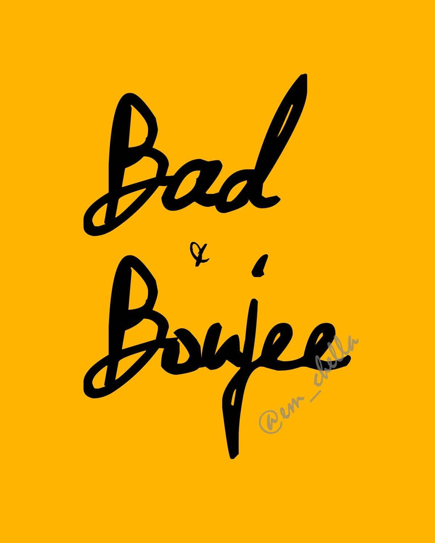 Bad & Boujee Yellow Bad And Boujee Decor Wall Art Modern Decor | Etsy