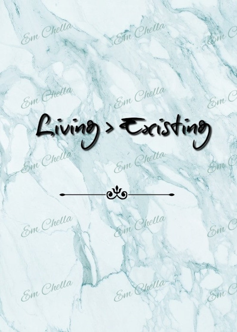 Living Is Greater Than Existing Marble Best Quotes 8 X 10 Etsy