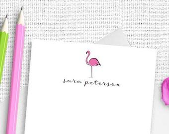 Flamingo Stationery, Personalized Stationery, Custom Stationery, Flamingo Stationary, Custom Stationery,  Tropical Stationery,  Preppy TS01