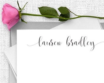 Personalized Stationery Set, Personalized Note Card Set, Calligraphy Stationary, Thank You Note Cards, Bridesmaid Gift, Custom Paper, CS06
