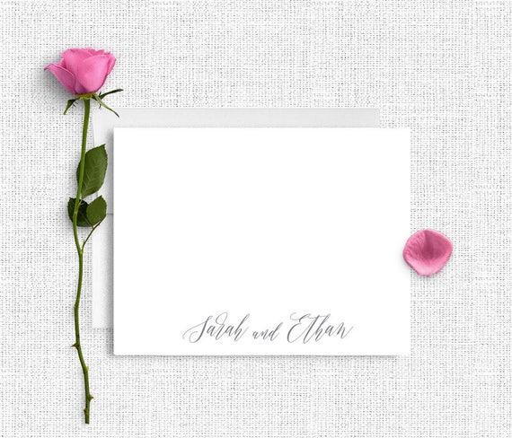 wedding thank you notes personalized wedding stationery etsy