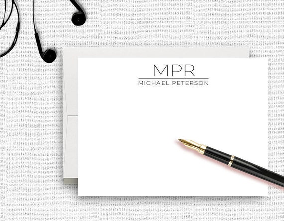 personalized stationery for men personalized from the desk of