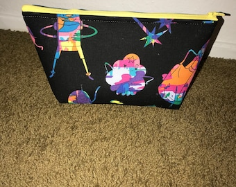 Adventure time makeup bag, zipper pouch