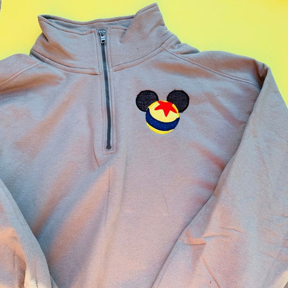 hoodie or pullover Luxo Mouse embroidered quarter zip
