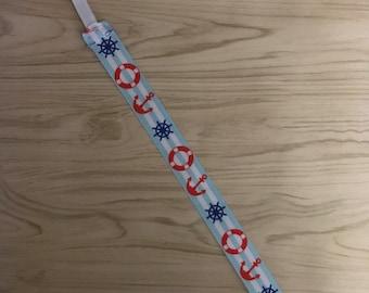 Nautical Pacifier clip, binky clip