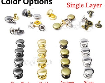 100ct Rapid Rivets - 3mm and 7mm Rivets - Small Medium Stud Rivets for leather, clothing, crafts, and embellishments