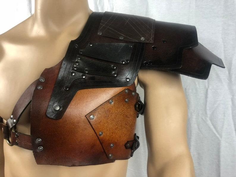 012855f5ca6 Mens Leder Gladiator Armor Gladiator Schulter-Schulter