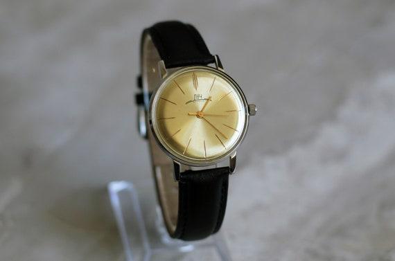 "Vintage mechanical watch ""Luch"", ultra slim watch"
