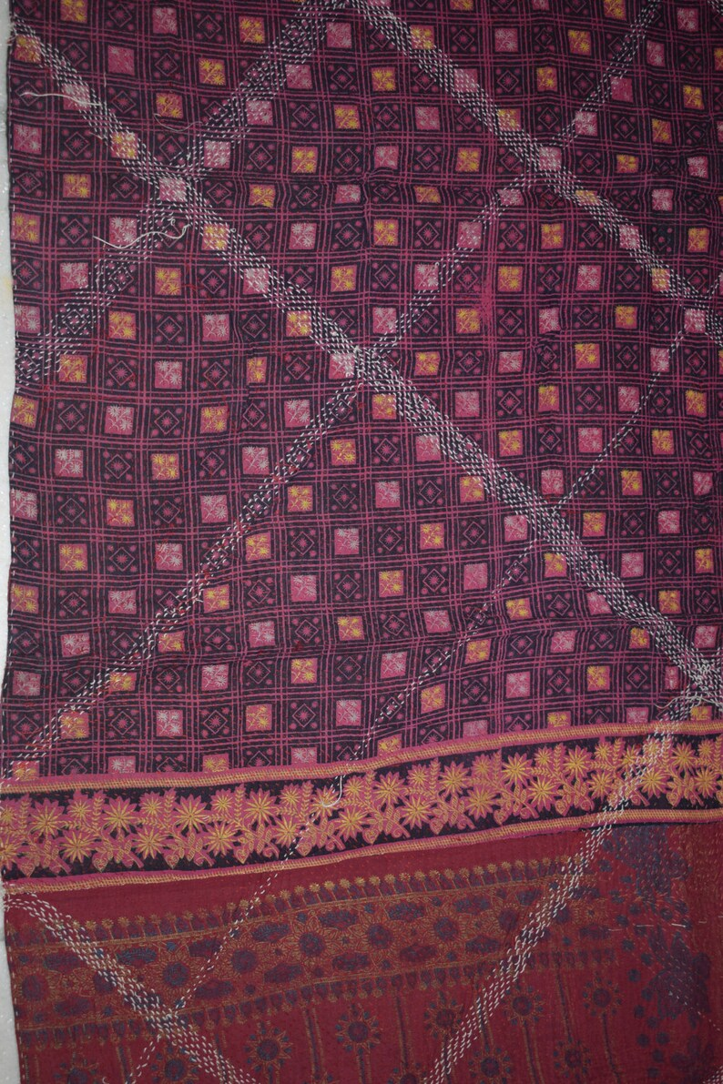 kantha quilt boho vintage decor sofa throw bohemian rag Patched quilt,Bohemian throw Ralli quilt gypsy carpet 72 rag boho decor