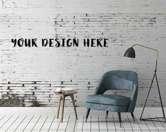 Magnificent Blank Wall Photography White Couch Mockup Black White Room Machost Co Dining Chair Design Ideas Machostcouk