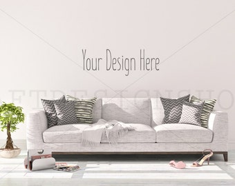 Outstanding Blank Wall Mockup Styled Stock Ptohography Mock Up Sofa Gamerscity Chair Design For Home Gamerscityorg