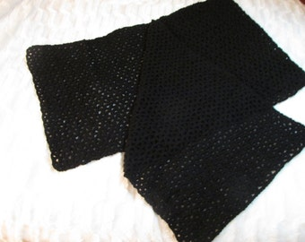 Black Lacy Shawl