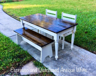 Marvelous 46.5 In Kids Table With Chairs And/or Bench