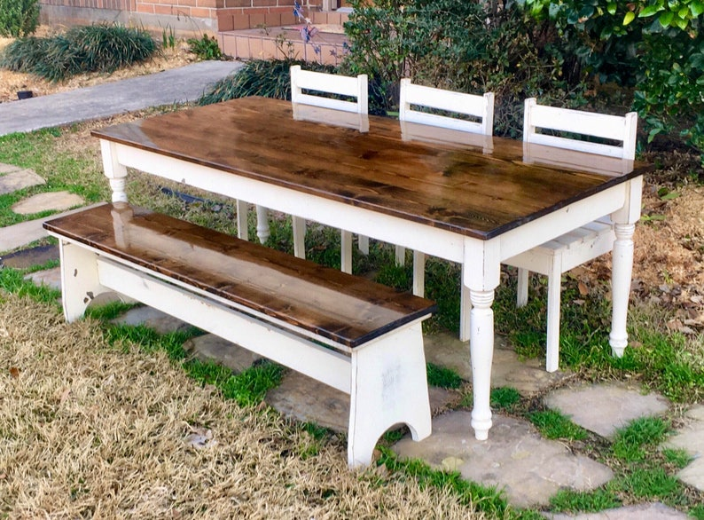 Remarkable 64 In Kids Farmhouse Table With Chairs And Or Bench Alphanode Cool Chair Designs And Ideas Alphanodeonline