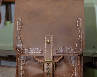 Big Upright Leather Bag
