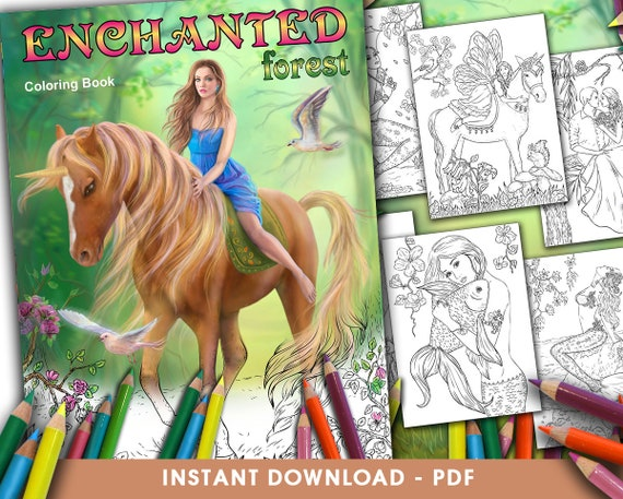 - PDF Coloring Book Enchanted Forest. By Alena Lazareva. Adult Etsy