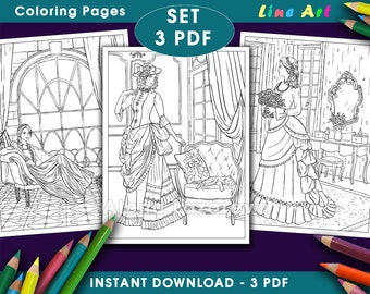 PDF Line Coloring Pages