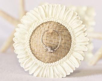 Ring Holder, Frame Ring Holder, Flower Ring Holder, Ring Holder Frame, Engagement Gift, Wedding Gift, Bridal Ring Holder Frame, Flower Decor