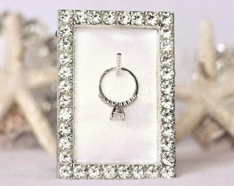 Wedding Ring Holder, Ring Holder, Ring Frame Holder, Diamond Ring Holder, Engagement Gift, Bridal Ring Holder, Ring Holder Frame