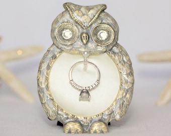 Ring Holder, Owl Ring Holder, Owl Decor, Engagement Gift, Engagement Gifts, Wedding Ring Holder, Ring Holder Frame, Engagement Ring Holder