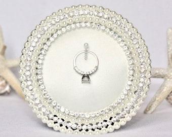 Ring Holder, Engagement Ring Holder, Wedding Ring Holder, Pearl Ring Holder, Engagement Gift, Wedding Gift, Ring Frame Holder, Holder Ring