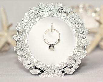 Ring Holder, Wedding Ring Holder, Engagement Gift, Flower Decor, Engagement Gifts, Flower Ring Holder, Engagement Ring Holder, Floral Decor