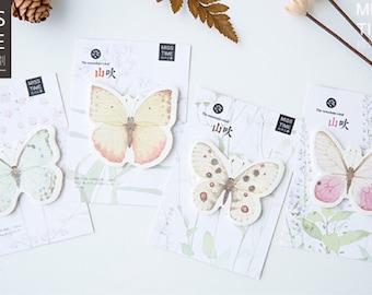 Beautiful butterfly sticky notes