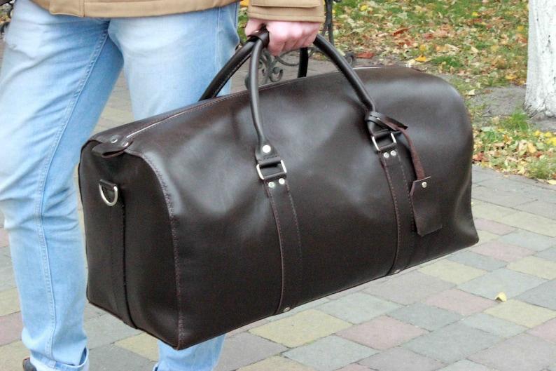 dae5d40c722f Duffle bag Leather Duffel Bag Leather weekend bag Overnight