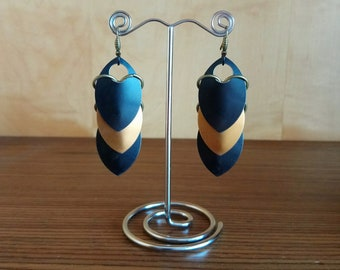 Dragon Scale Earrings/Scailemail Earrings/Pendientes Dragon Scales