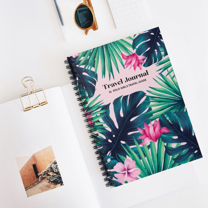 Travel Journal for the Solo Female Traveler  Spiral Notebook image 0