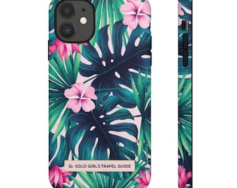 Jungle Love  iPhone 11 Case for Solo Travel Girls  - Tropical Pattern