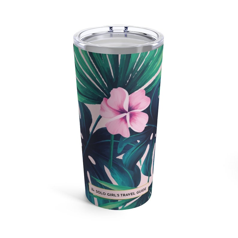 Bali Love Travel Tumbler for Solo Travel Girls  Tropical image 0
